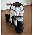 Дитячий електромотоцикл BMW (білий колір), фото 2