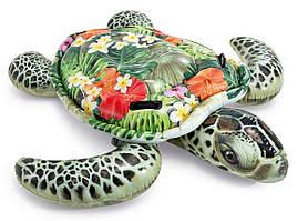 Черепаха с ручками 191х170 см, от 3 лет   Детский надувной плотик