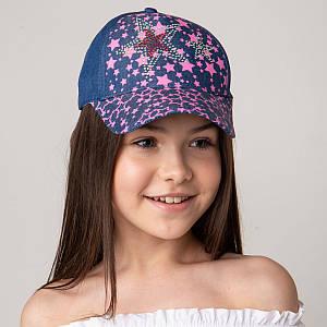 Яркая кепка для девочек на лето оптом - Звёзды джинс