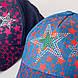 Яркая кепка для девочек на лето оптом - Звёзды тёмный джинс, фото 2