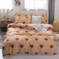 Комплект постельного белья Красные сердечки (полуторный) Berni Home