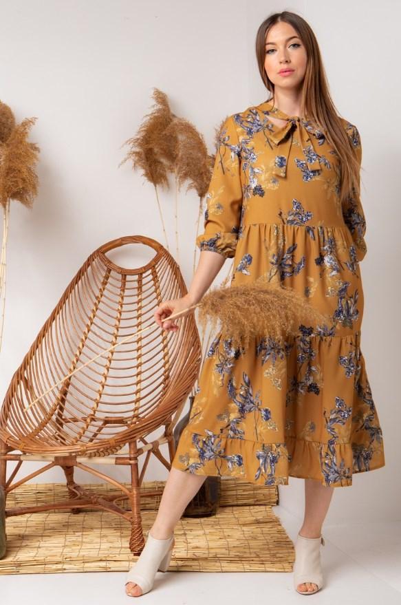 Стильное платье с завязками на груди.Разные цвета