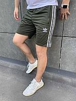 Мужские шорты из лакосты с вышитой эмблемкой АДИДАС S M L XL