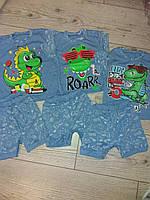 Ясельний костюм шорти  футболка дракон  голубі 68,74,80,86