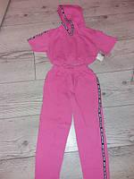 Спортивний костюм для дівчаток розовий 110-116 см