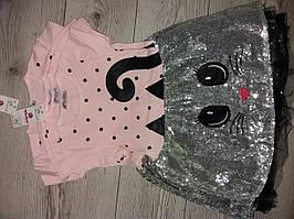 Плаття з котиком блискуче