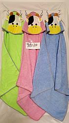 Детское махровое полотенце уголок Теленок