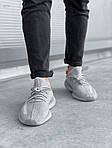 Мужские кроссовки Adidas Yeezy Boost 350 V2 'Tail Light' (серые) 447TP, фото 2