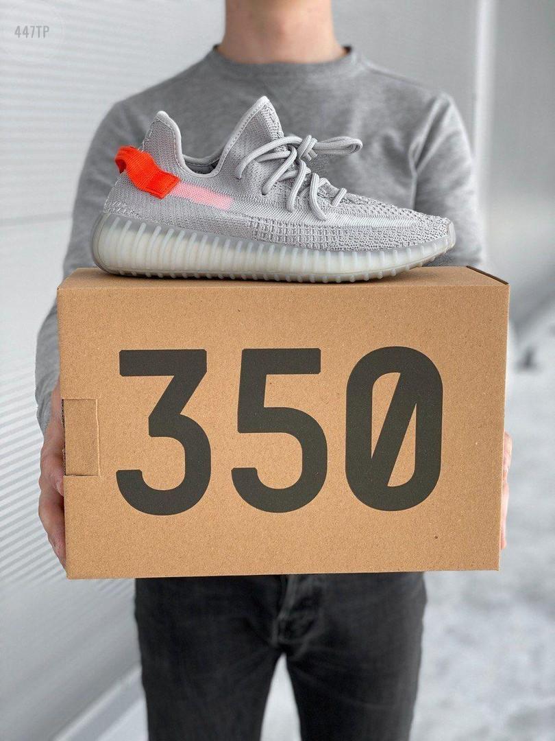Мужские кроссовки Adidas Yeezy Boost 350 V2 'Tail Light' (серые) 447TP