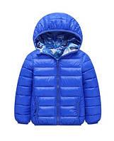 Куртка демисезонная двусторонняя детская Синий камуфляж Berni