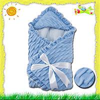 Конверт для новорожденных на выписку из роддома Вязка