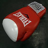Рукавички боксерські Everlast Protex-Star (VL-0105-R) 10 oz. Шкіра