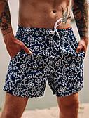 Мужские шорты пляжные для купания с якорями синие
