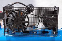 Компрессор AL-FA ALC100-2 двухцилиндровый двигатель с ременным приводом, фото 2