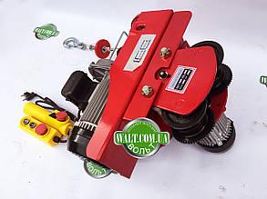 Тельфер с кареткой 1000кг, 2000 ВАТ EUROCRAFT таль лебедка передвижная, фото 2