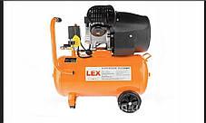LEX компрессор LXC100V (100 літрів) Потужний компресор 2 Циліндра, фото 3