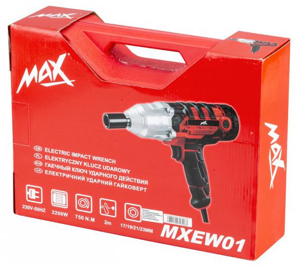 Гайковерт ударный электрический Max MXEW01 750Nm