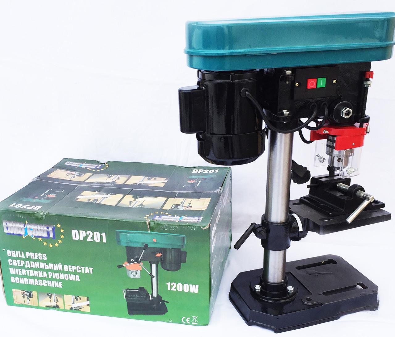 Станок сверлильный EURO CRAFT DP201+тиски