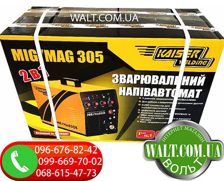 Сварочный полуавтомат KAISER MIG-305 2в1 инверторный, фото 2