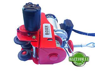 Тельфер с кареткой BOXER 500 КГ 2000 ВТ лебедка с передвижным механизмом, фото 2