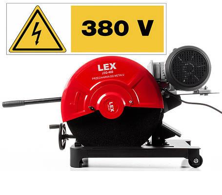 Монтажная пила (Металорез) LEX J3G-400 Вольт 380, фото 2