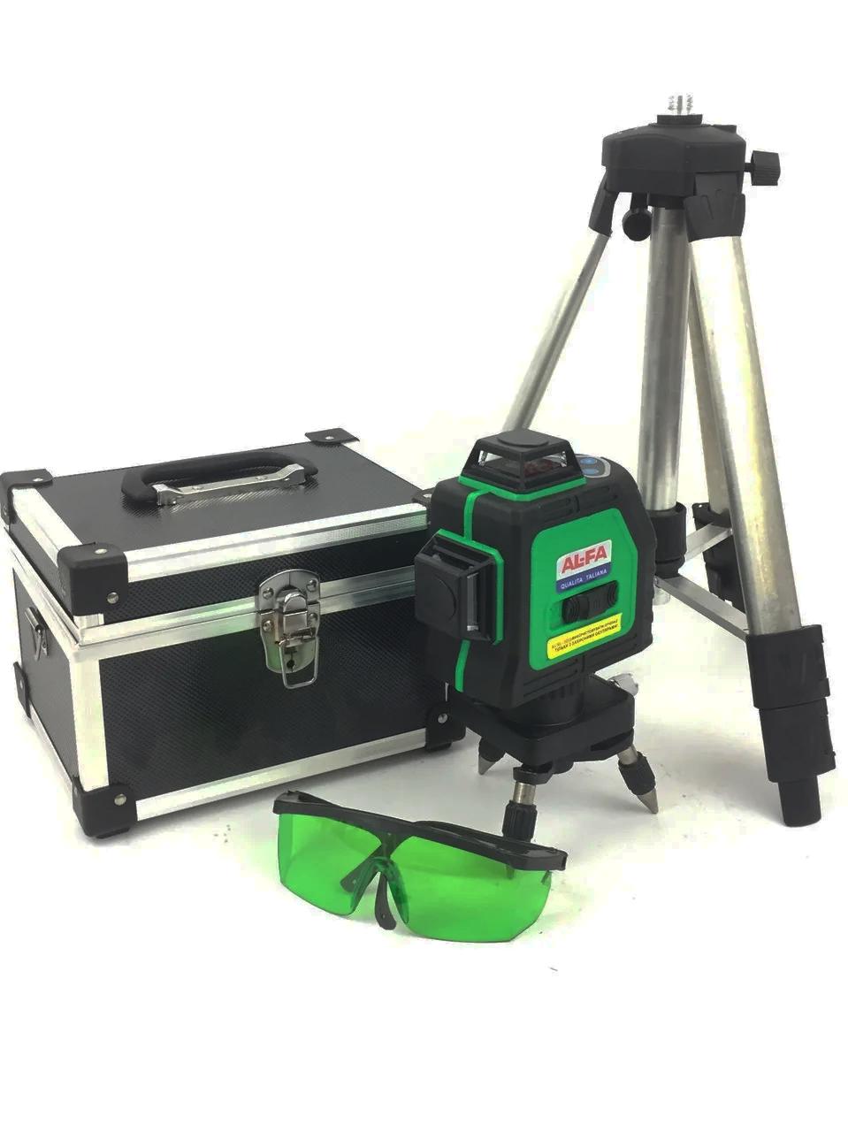 Профессиональный лазерный уровень AL-FA ALNL-3DG лазерный нивелир