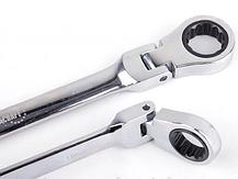 Ключі рожково-накидні EURO CRAFT з трещеткой 8 шт Хромванадієва сталь, фото 3