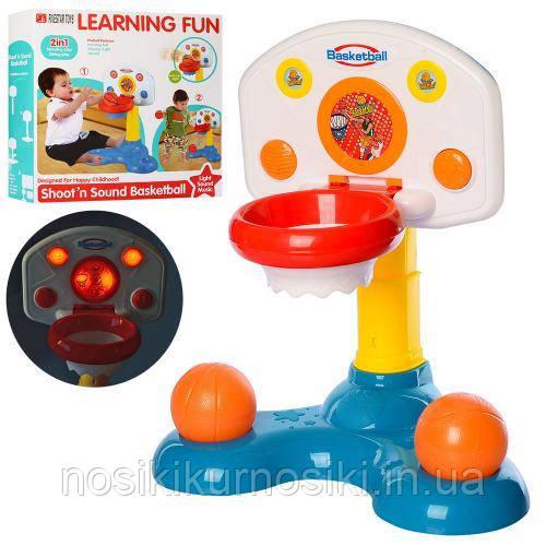 Дитячий розвиваючий центр - баскетбольна стійка, 2 м'ячі, світло, звук