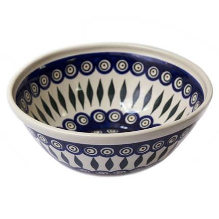 Салатник средний керамический 22 Перо Павлина, фото 2