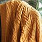 Плед вязаный 130х170 BETIRES Bloom Mustard горчичный, фото 4