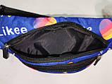 (11.5*28)Детская сумка на пояс Likee Принт ткань спортивные барсетки подростковые Девочка и мальчик опт, фото 5