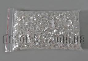 Пайетки жемчужные белые тисненные 6мм/98±2гр
