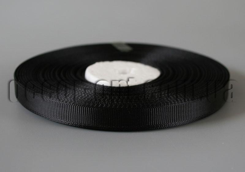 Лента репсовая оттенок черный 0,9см/36ярд арт.39