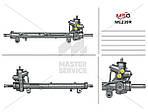 Рульова рейка з ГУР для MERCEDES-BENZ A-Class W168 1997-2004 01.56.1505, 11-0634, 110726, 168 460 1600, 168