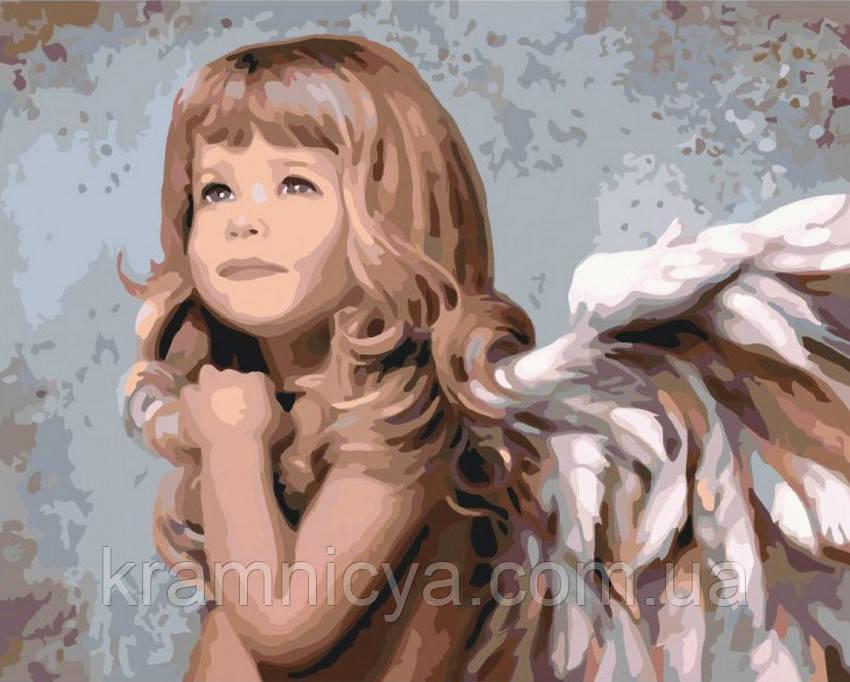 Картина по номерам 40х50 Маленький ангел,  худ. Ноэл Ненси (КН2309)