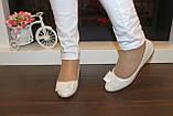 Балетки женские белые Т1079, фото 3