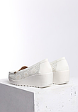Туфли женские белые на танкетке Т1084, фото 3
