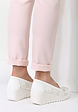 Туфли женские белые на танкетке Т1084, фото 4