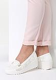 Туфли женские белые на танкетке Т1084, фото 5