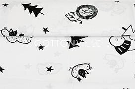 Муслин Черно-белые рисунки 180 см