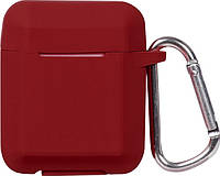 Кейс TOTO Plain Ling Angle Case AirPods Wine Red, фото 1