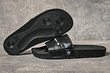 Шлепанцы мужские 17591, BMW Motorsport, черные, [ 40 43 ] р. 43-28,6см.