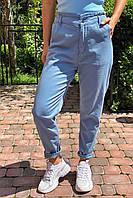 Джинсы с завышенной талией на резинке  Busem - джинс цвет, 36р (есть размеры)