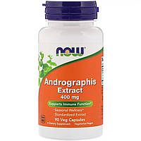 Экстракт Андрографиса 400мг, Now Foods, Andrographis Extract, 90 капсул