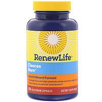 Комплекс Детоксикация (Средство от Запора), Cleanse More, Renew Life, 100 гелевых капсул