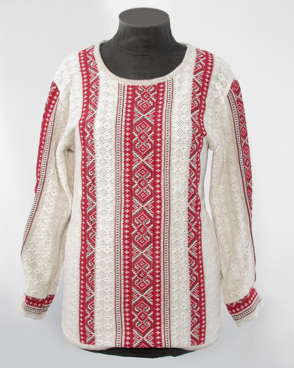 Женская блузка на льне - машинная вязка