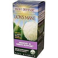 Ежовик гребенчатый, Поддержка памяти и нервов, Fungi Perfecti, Lion's Mane, 60 растительных капсул