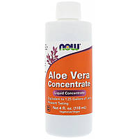 Алое Вера Концентрат, Aloe Vera Concentrate, Now Foods, 118 мл