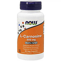 L-Карнозин, L-Carnosine, Now Foods, 500 мг, 50 вегетарианских капсул