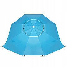 Пляжный зонт-тент 2 в 1 Springos XXL BU0014, фото 2